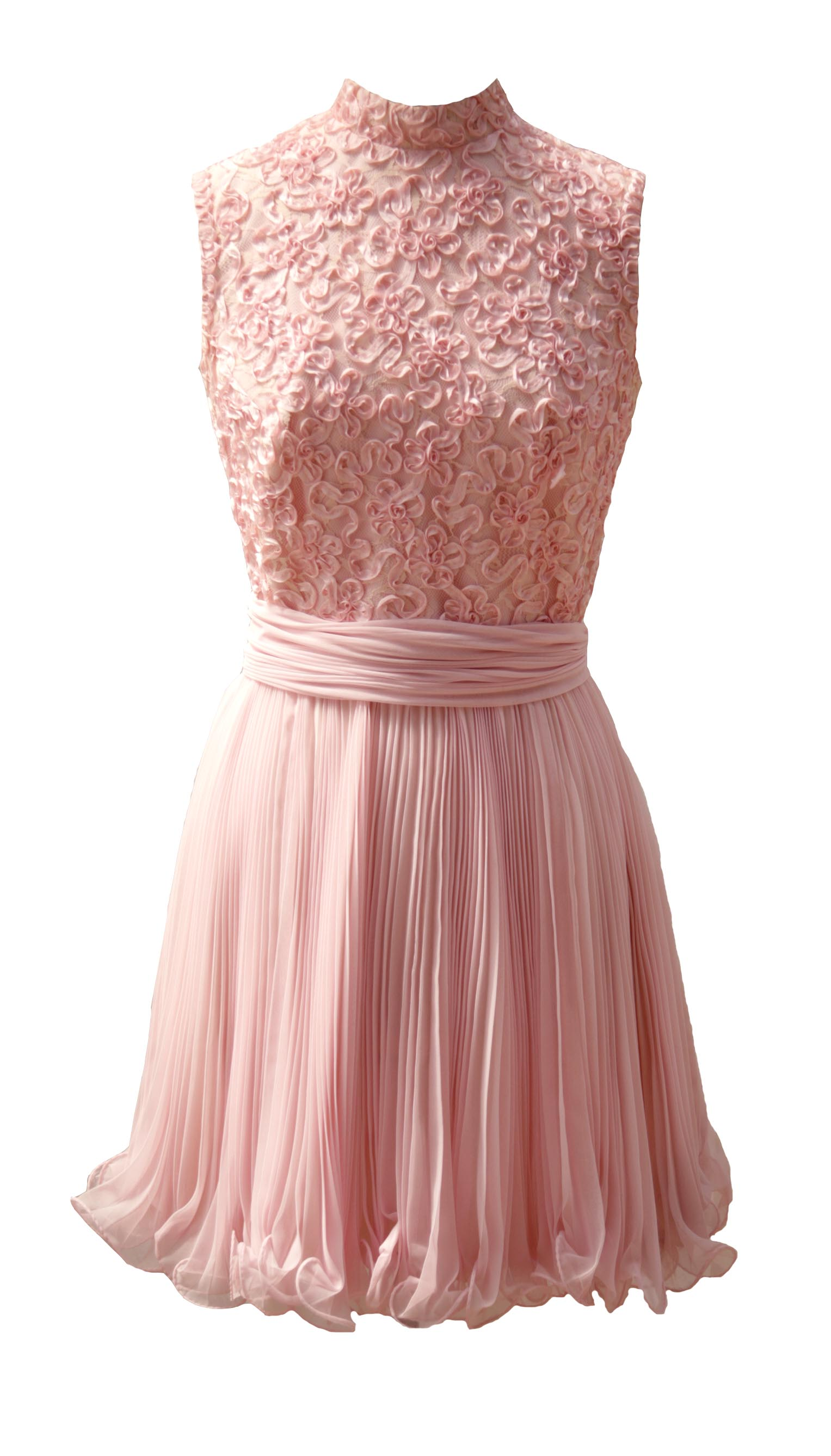 Dusty tulle rose 1960s cocktail dress wwwitsvintagedarlingcom