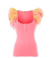 neon pink flamenco vest river island