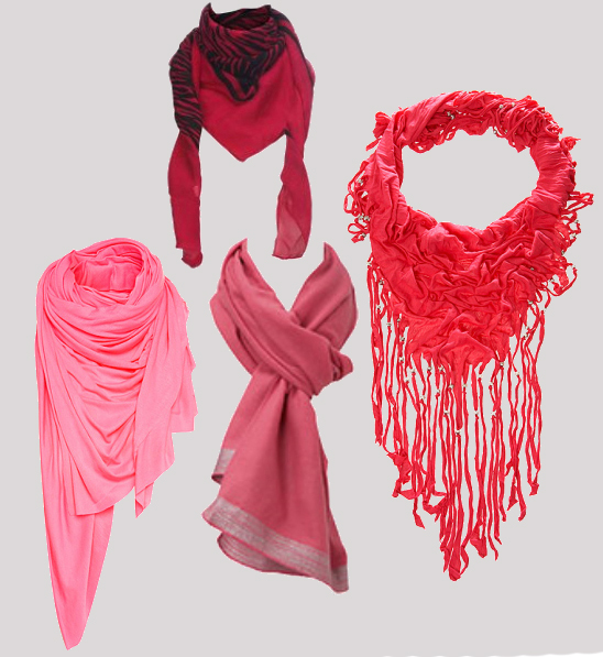 New Look, Miss Selfridge, Oasis, Topshop, Pink Scarf
