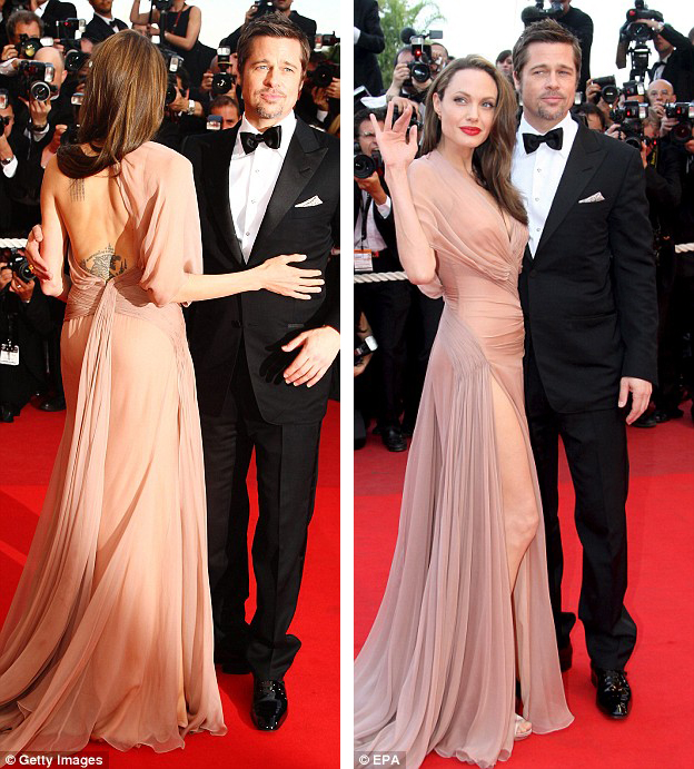 Anglina Jolie Versace Cannes 2009