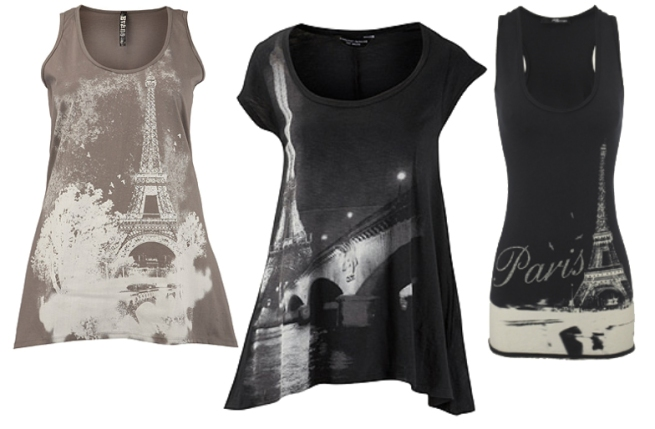 Black Paris Tees