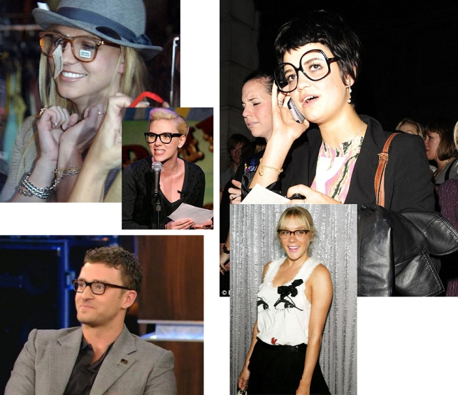 Celebrities in Oversized Spectacles Glasses