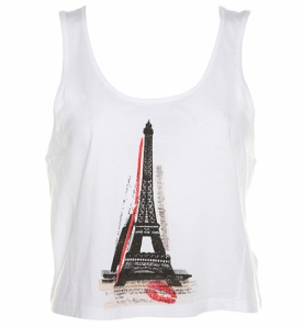 Eiffel Tower Cropped Tee £16 Topshop