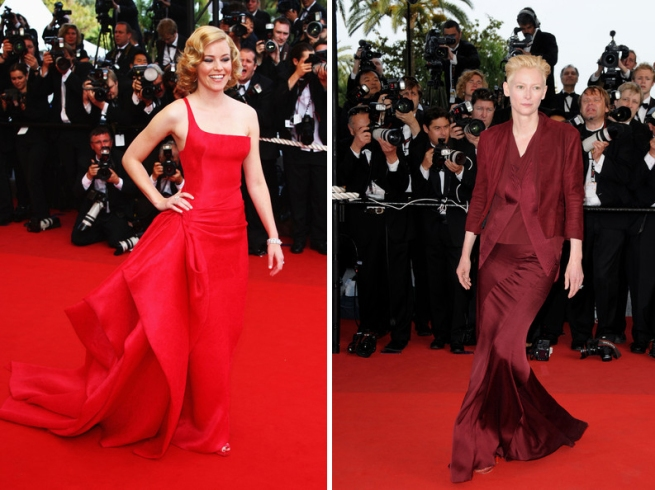 elizabeth banks and Tilda Swinton Red Cannes 2009
