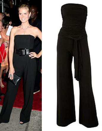 Heidi Klum and black bandeau top dorothy perkins £40