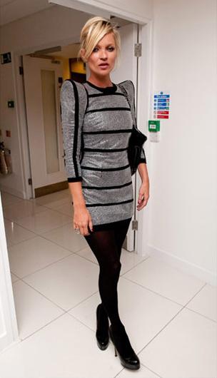 Kate Moss in futuristic Balmain