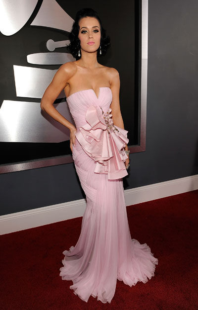 Katy perry Grammy Basil Soda pink dress
