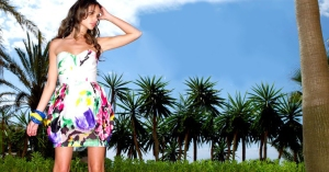 lipsy AW09 Tropical dress