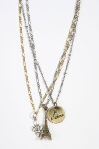 New destination Charm Necklace Paris £18 urban outfitters