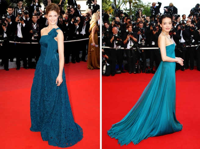 Shu Qi and Alessia Piovan Blue Cannes 2009