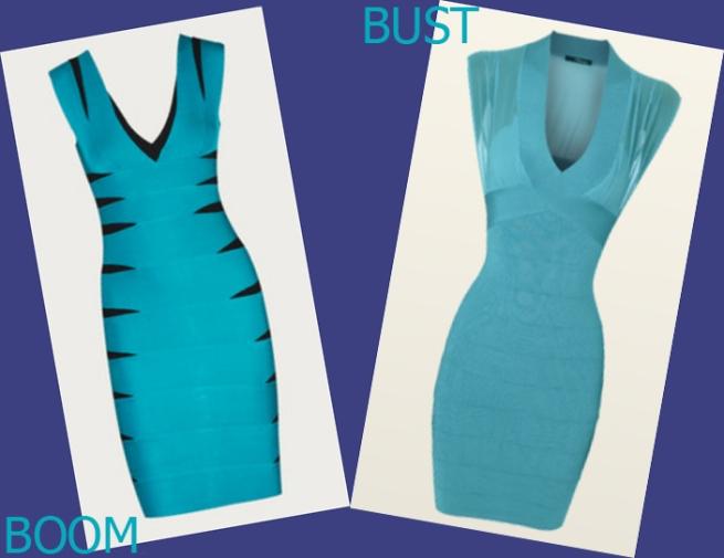 Turquoise bandeau dresses