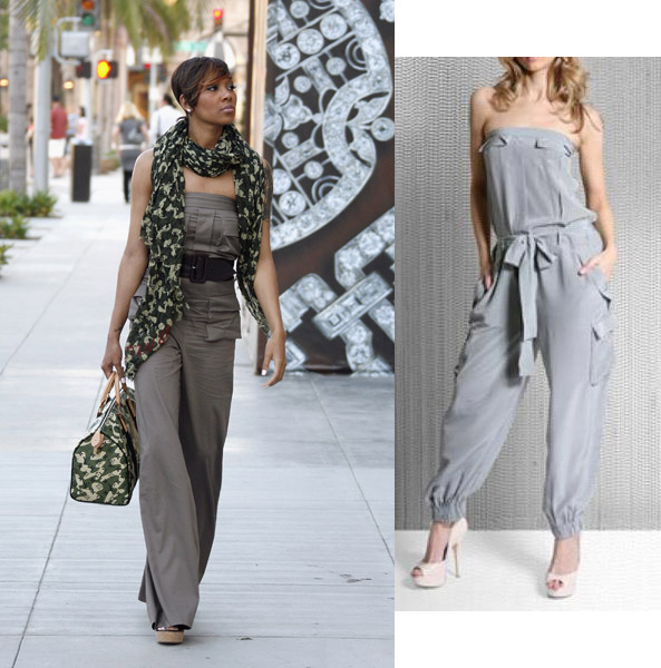 US singer Monica and Supertrash Silk Pocket Bandeau Jumpsuit £115 asos