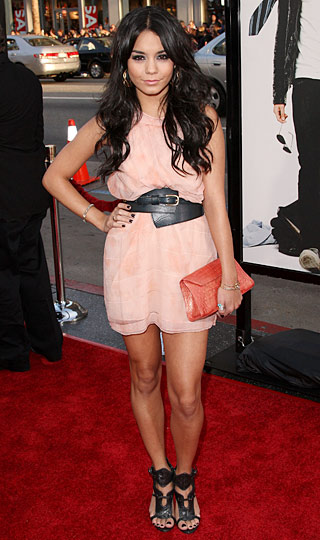 Vanessa Hudgens Zac Posen pink dress premier