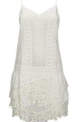 Drop Waist Lace Trim dress approx. €65 Warehouse (2)