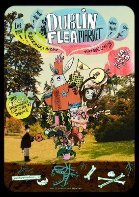 Dublin Fleamarket June Poster Steve McCarthy