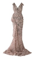 Zac Posen Maxi Leopard Print dress