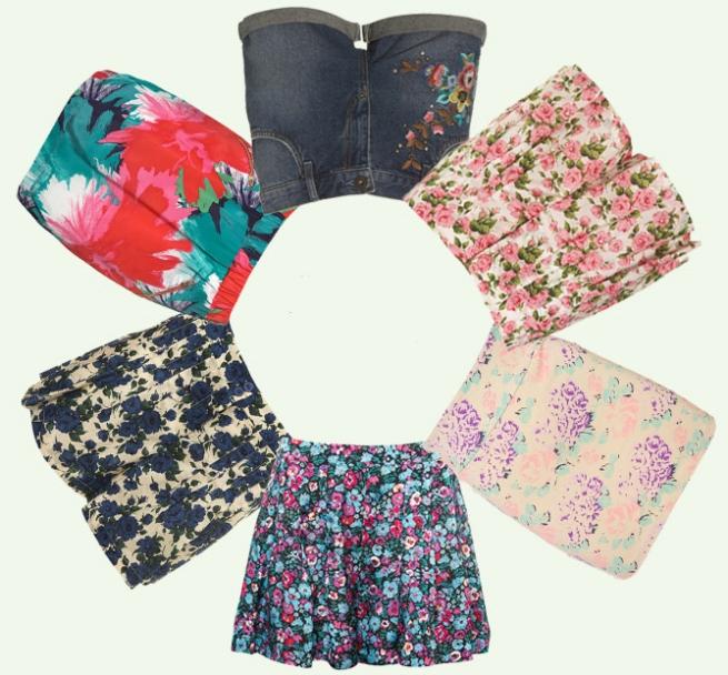 Floral Skirts Topshop