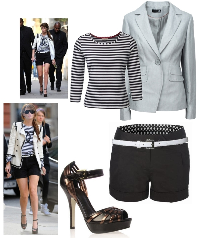 Get the Look Mischa Barton Chanel stripe shorts