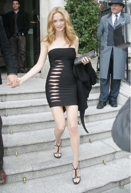 Heather Graham Leaving Merrion Hotel for Prem of Hangover
