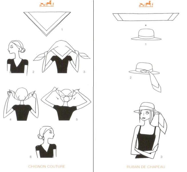 How to Tie Head & Hat Scarves Hermes