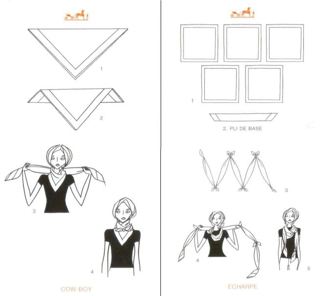 How to Tie Neck Scarves Hermes
