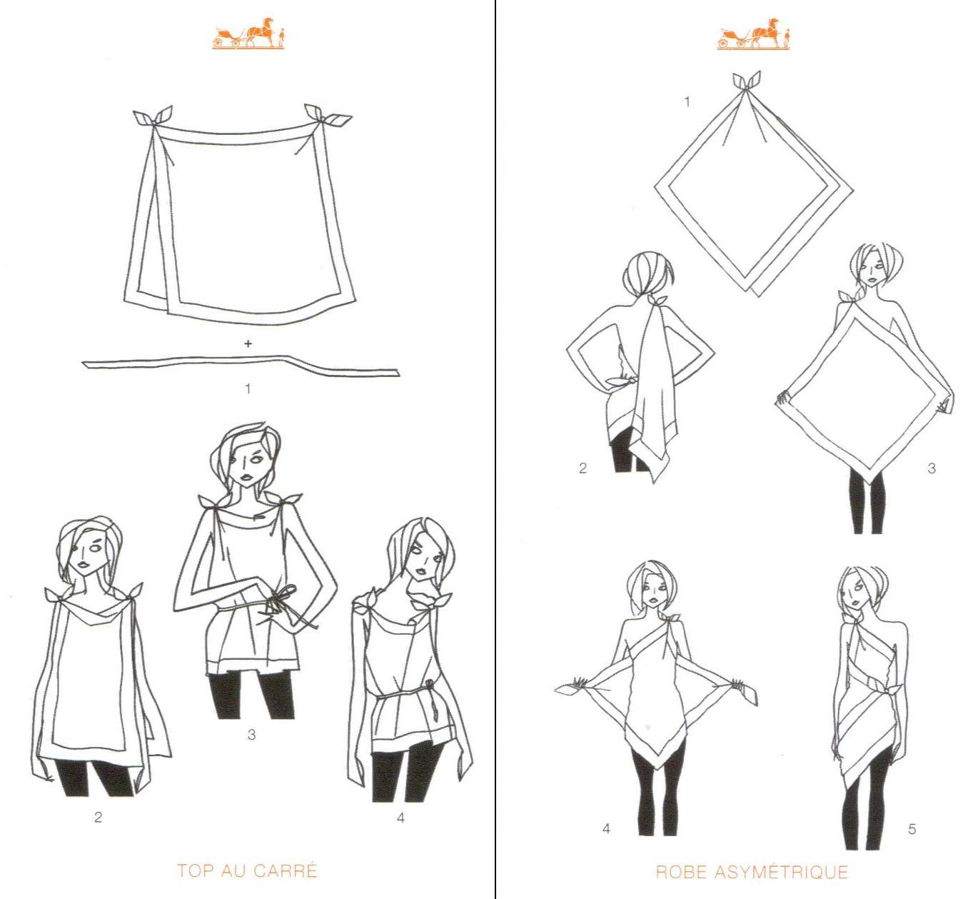 alternative ways to tie a scarf