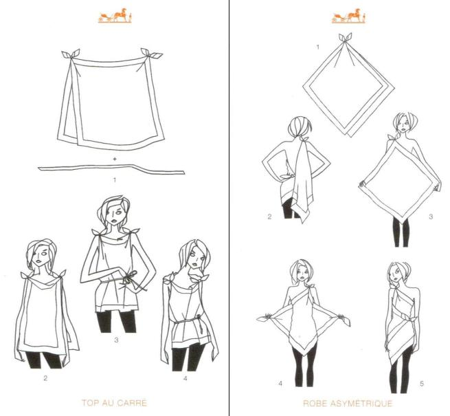 How to Tie Scarves Tops Hermes
