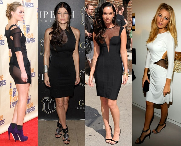 Leighton Meester, Fergie, Megan Fox, Blake Lively Sheer Dress