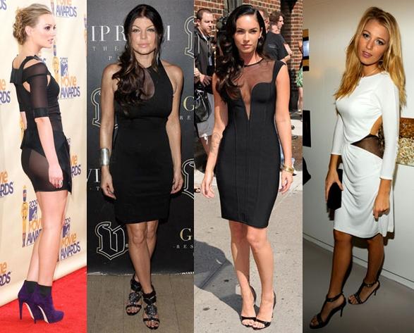 Leighton Meester, Fergie, Megan Fox, Blake Lively Sheer Dress