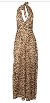Leopard print maxi dress DP's