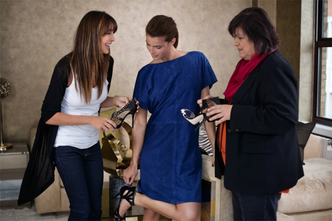 Tamara Mellon, Margareta van den Bosch with Model