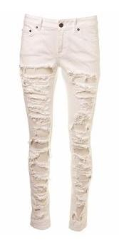 White Skinny Ripped Jeans €65 Topshop