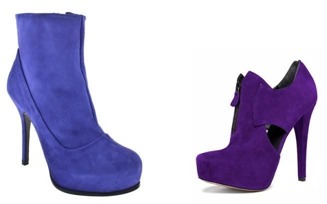 Blue Suede Booties AW09