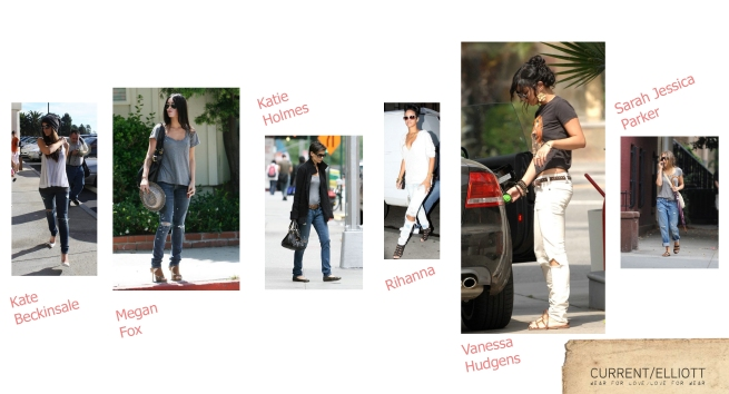 Celebrities wearing Current Elliot Jeans