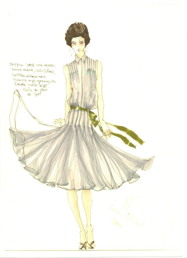 Duck Egg Spot Dress Peter O'Brien Sketch AWear