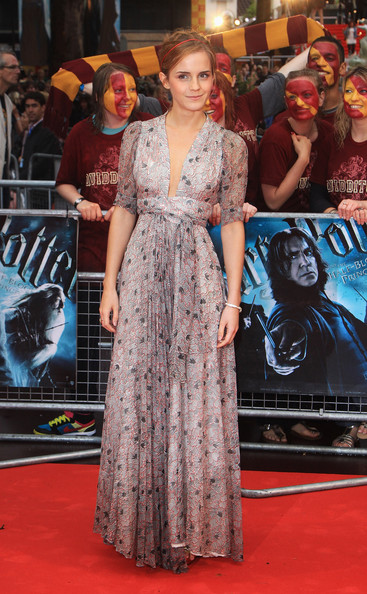 Emma Watson Harry Potter Half Blood HP6 Premiere Ossie Clarke Dress