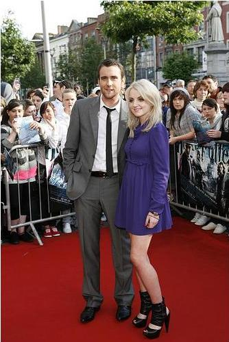 Evanna Lynch & Matthew Lewis at HP6 Dublin premier Phot by Tony Kinlan