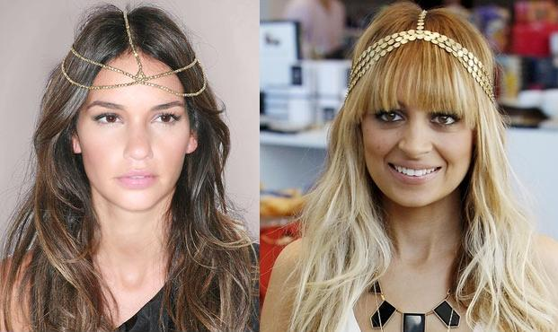 House of Harlow 1960 Gold-Crystal Style Bead Five Strand Headpiece £160 ASOS