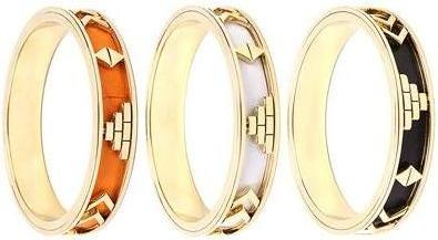 House of Harlow Black White Orange Aztec bangles £76each ASOS