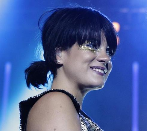 Lily Allen Montreux Fesival Sparkle Eyeshadow
