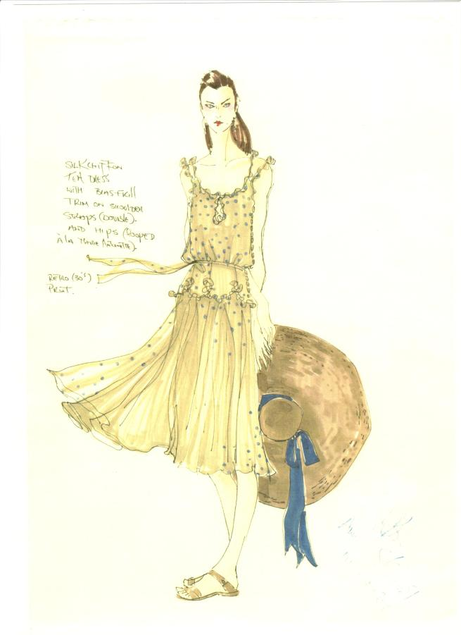 Silk Spot Dress Peter O'Brien Sketch AWear