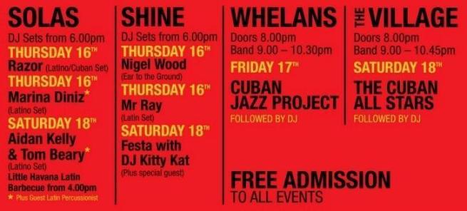 Wexford Street Little Havanna Festival Listings