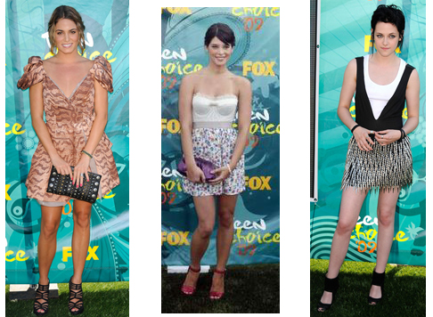 Kirsten Stewart, Ashley Greene, Nikki Reed Teen Choice Awards 2009