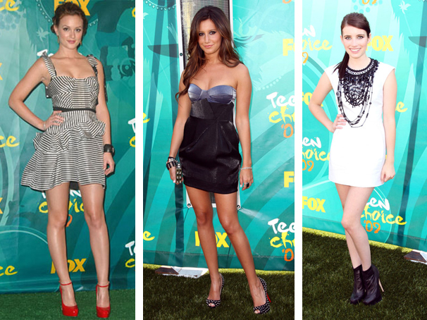 Leighton Meetser, Emma Roberts, Ashley Tisdale Teen Choice Awards 2009