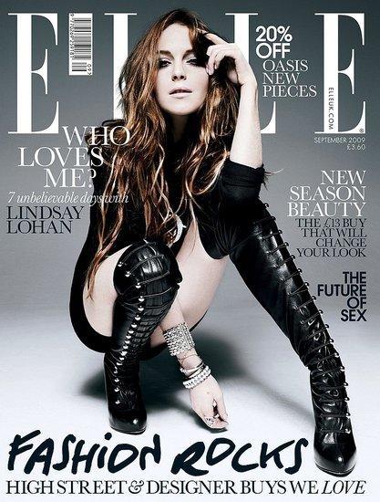 Lindsay Lohan Elle Magazine Cover