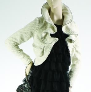 Manoukian zip ruffle coat €178 cropped