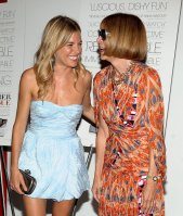 Sienna Miller and Anna Wintour