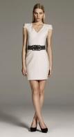 White Structured Dress AW09 Zara