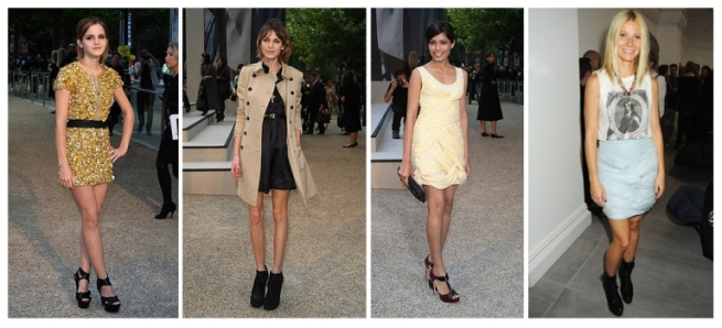 Emma Watson, Alexa Chung, Freida Pinto, Gwynneth Paltrow, Burberry London Fashion Week lo res