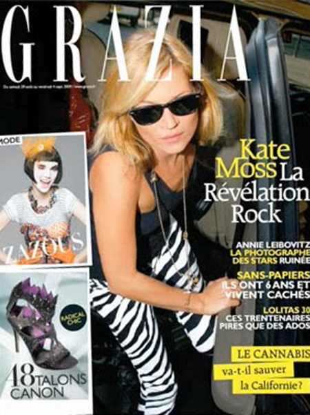 grazia france kate moss cover